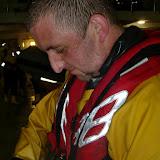 31 May 2012 - Crew  Member Scott Rowland adjusts his new ILB lifejacket. Photo: RNLI Poole/Dave Riley