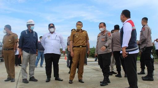 Wagub tinjau pembangunan Tol Padang-Pekanbaru