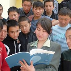 Kyrgyzstan, Kizilkiya city, March 30, 2010. Earth Charter+10 event: training for teachers