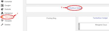 Cara mudah membuat menu navbar di blogger tanpa script