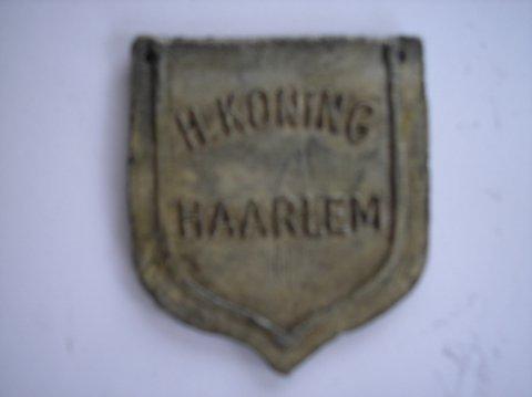Naam: H. KoningPlaats: HaarlemJaartal: 1900