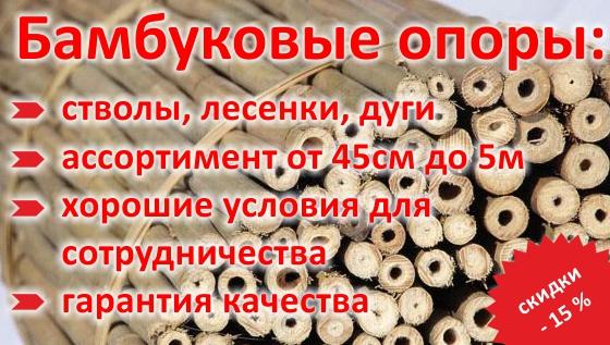 Бамбуковые стволы и лесенки