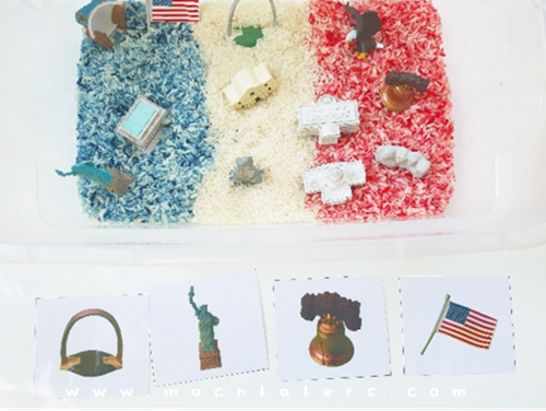 Patriotic Sensory Play With Safari LTD Toobs: Free Printable Matching Cards