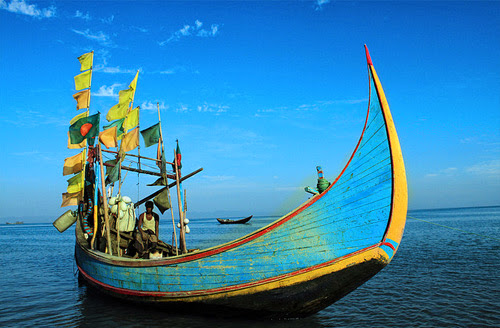 Fishing boat in the island