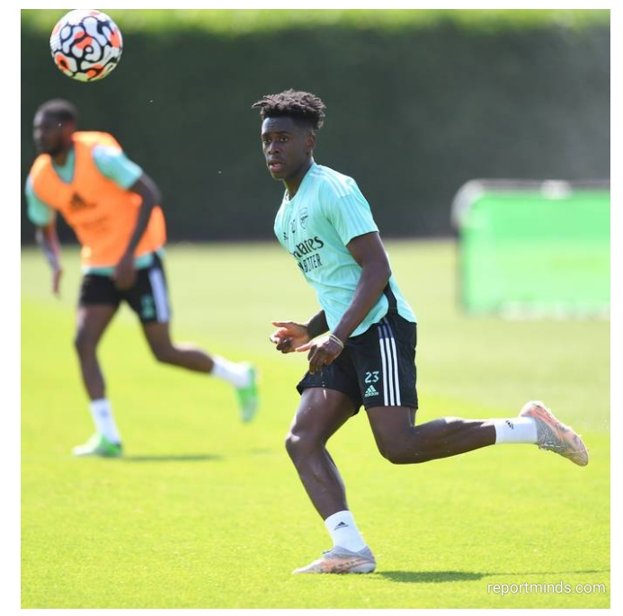 Arsenal's New Signing Albert Sambi Lokonga Spotted In Training Few Hours After He Was Unveiled (Photos)