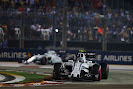 Valtteri Bottas leads Felipe Massa, Williams FW37 Mercedes