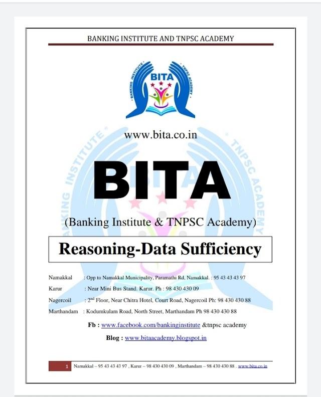 Banking Exam - Today Current Affairs  BITA Academy (Reasoning - Data Sufficiency January  2021 )