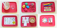 8 Christmas Themed Tray Activities for Preschoolers