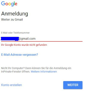 google email adresse vergessen