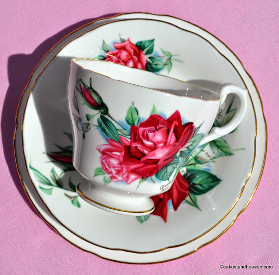 Royal Standard Christian Dior Rose teacup, saucer, tea plate trio