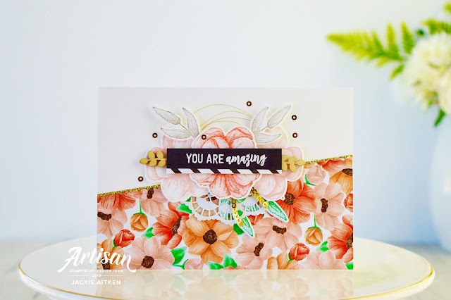 Floral Birthday Cards, Painted Seasons, Stampin' Up!, Sale-a-Bration 2019, Four Seasons Framelit Dies, Amazing Life, Be Mine Stitched Framelits,