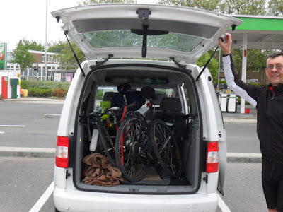 Bikes loaded in car