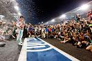 Lewis Hamilton cheers