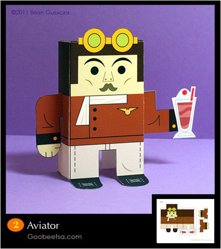 Aviator Paper Toy