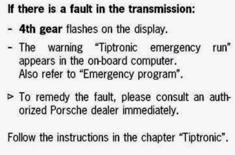 911uk com - Porsche Forum : View topic - Tiptronic gear