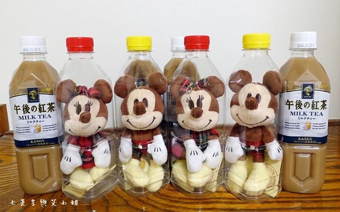 5 日本必買 午後的紅茶 米奇米妮吊飾娃娃限定組合
