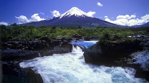 Scenic Salto del Petrohue, Osorno Volcano, Chile.jpg