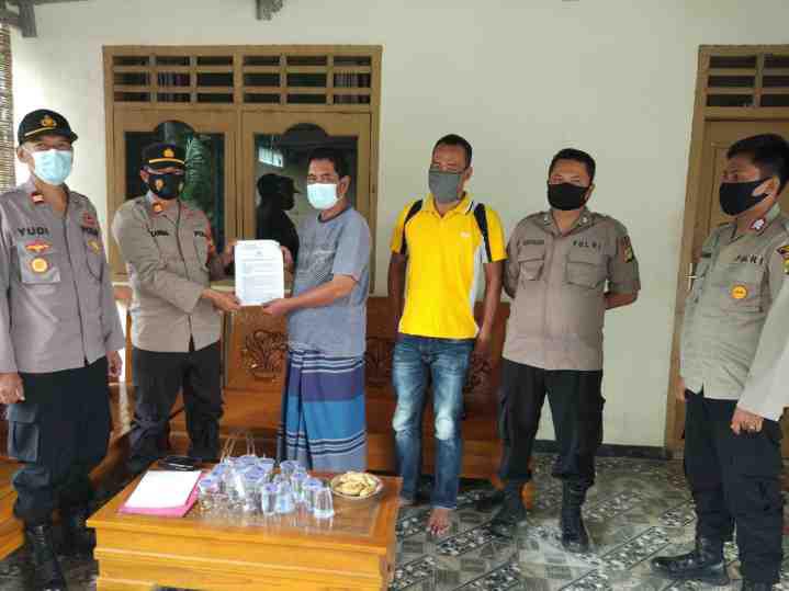 Pilkades Serentak 2021, Polisi Di Cabangbungin Himbau Cakades Patuhi Prokes