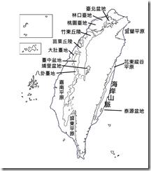臺灣地形分布圖_空白_字_無圖例