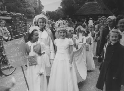 1954 Crowning Procession - the May Queen was Jeanette Stap