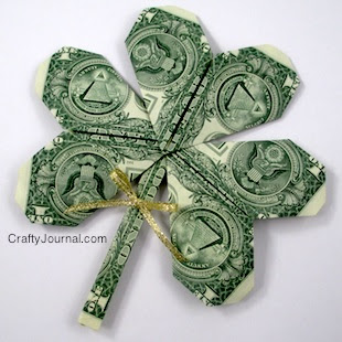 Dollar Bill Shamrock by Crafty Journal