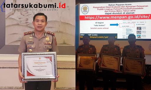 Polres Sukabumi Kota Raih Penghargaan Sebagai Polres Pelayanan Publik Terbaik 2018 oleh Kemenpan-RB