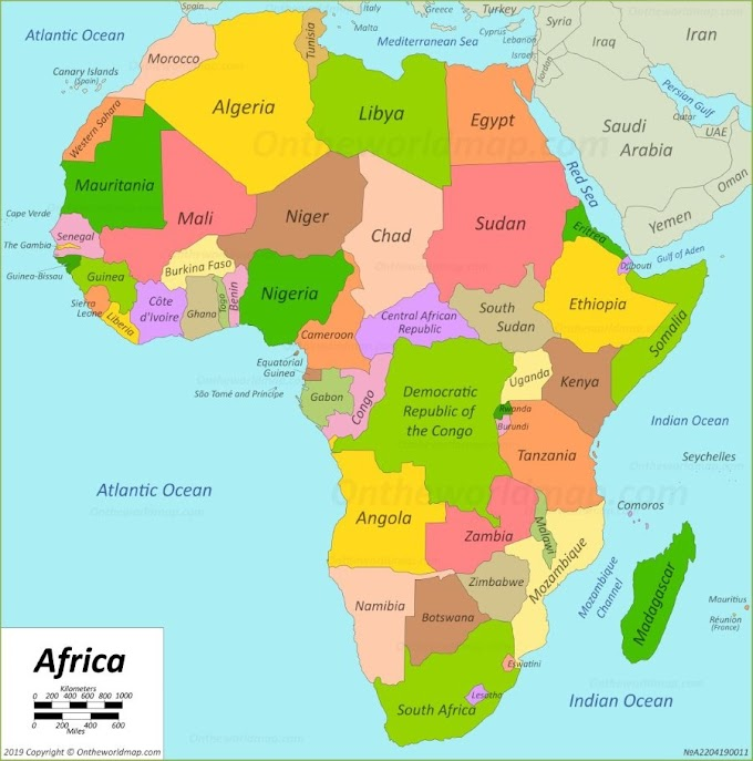 List of African countries, their capitals, currencies and population