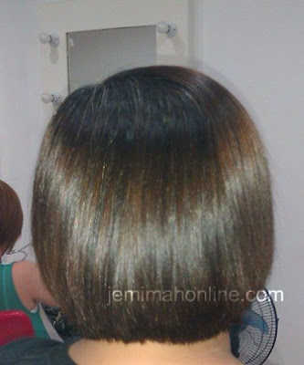 Shiny and Fine hair after Keratin treatment