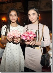 HOLLYWOOD, CA - MARCH 30:  Actors Sasha Lane (L) and Rowan Blanchard attend the Coach & Rodarte celebration for their Spring 2017 Collaboration at Musso & Frank on March 30, 2017 in Hollywood, California  (Photo by Donato Sardella/Getty Images for Coach)