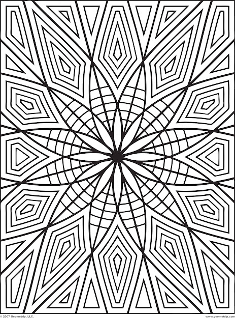 Geometric Design Coloring Pages  Geometric Coloring Pages Pdf Pic   Hawaiidermatology   Kb