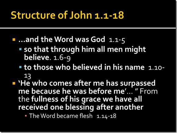 Basic Chiasm John 1.1-18 (2)