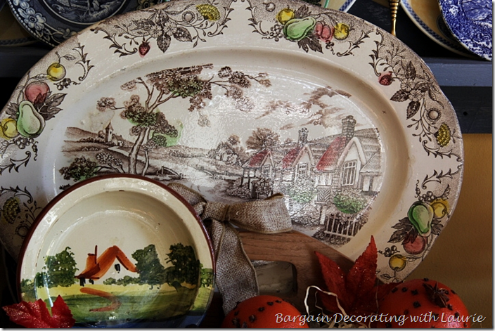 Fall Cottages on Plates