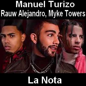 Manuel Turizo - La Nota ft. Rauw Alejandro, Myke Towers