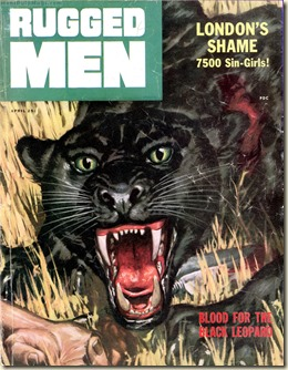RUGGED MEN, April 1956. Clarence Doore art, Bryce Walton story WM