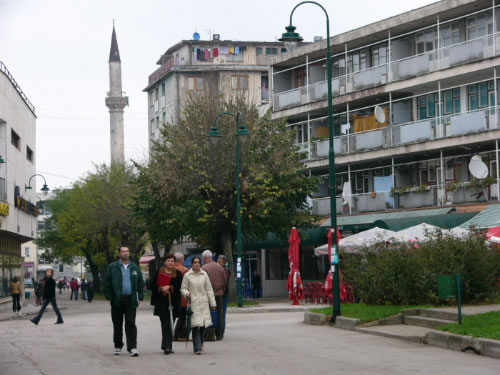 Town center area