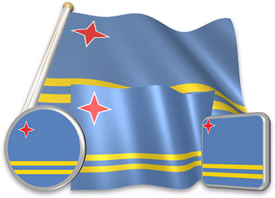 Aruban flag animated gif collection