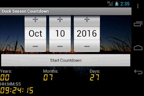 Duck Season Countdown - náhled