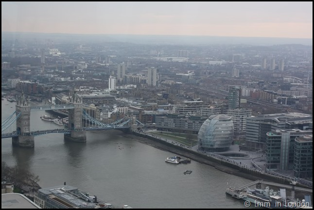 Tower Bridge and City Hall  from the Sky Garden