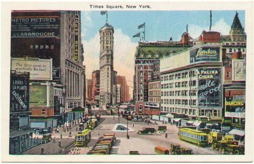 Times Square as depicted on a post card in 1919.