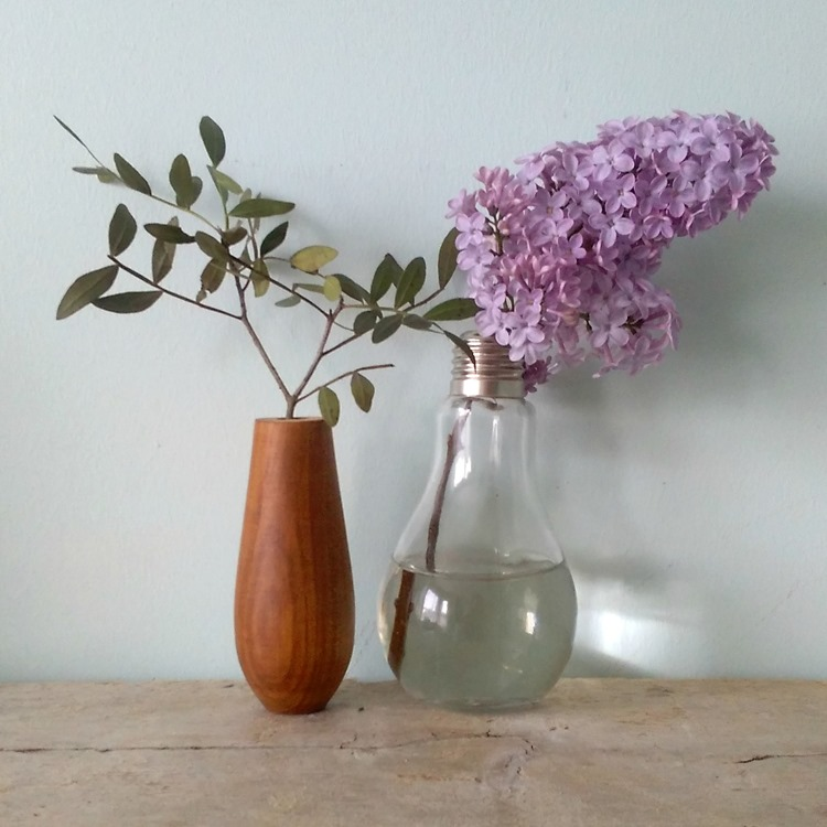 lilac and vase