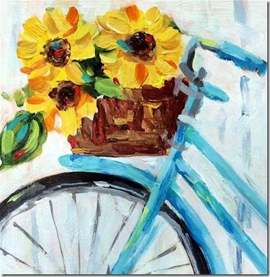imágenes de bicicletas con flores (20)