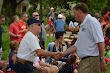 Eric Thanking a Vet at Memorial Day Parade