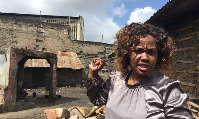 Phyllis Omido was awarded the Goldman Environmental prize in 2015 for organising protests against a lead-smelting plant in Owino Uhuru. Photo: Jonathan Watts / The Guardian