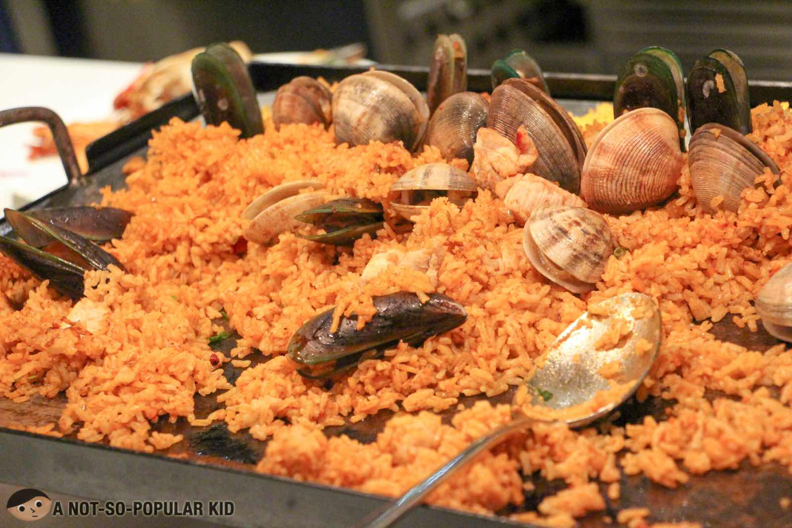 Saefood Paella in S Kitchen, Newport City