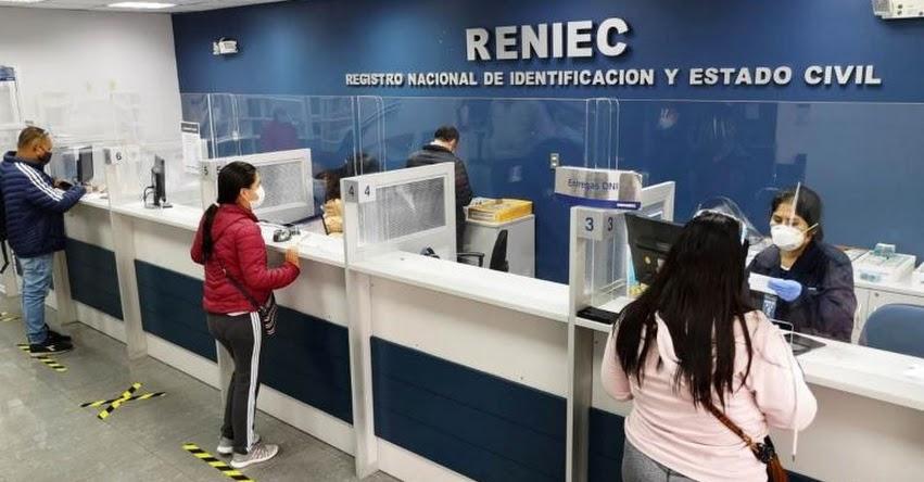 RENIEC: Todas las agencias nivel nacional atenderán con normalidad el lunes 11 de octubre