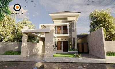 desain atap rumah minimalis 2 lantai type 45