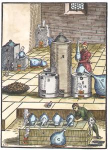 From Lazarus Ercker Beschreibung Allerfurnemisten Mineralischen Ertzt Unnd Bergkwercks, Alchemical And Hermetic Emblems 1
