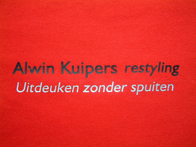 Werkkleding Alwin Kuipers close up