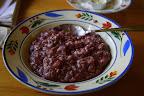 Frukost - Havregrynsgröt, kokat med blåbärssoppa, smakade bättre än vad det såg ut ;)
