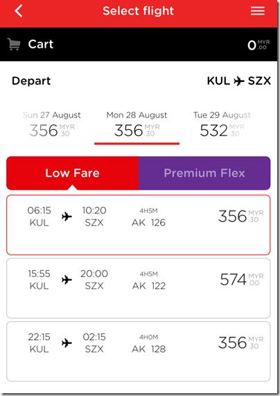 AirAsia KL-Shenzhen